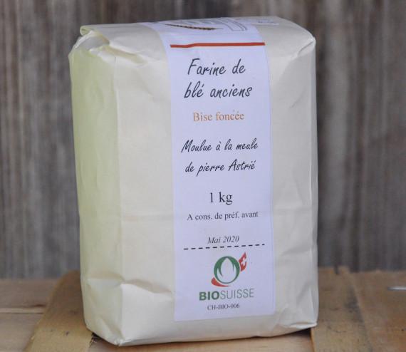 Farine de blés anciens, bise foncée 1 kg