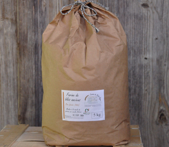Farine de blés anciens, bise foncée 5 kg