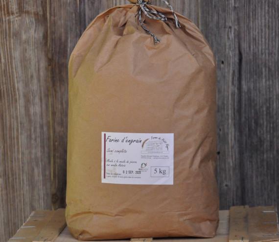 Farine d'engrain, semi-complète 5 kg