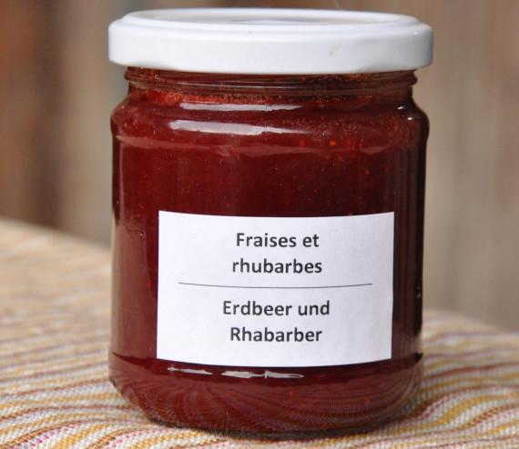 Confiture de fraises et rhubarbe (200 ml)